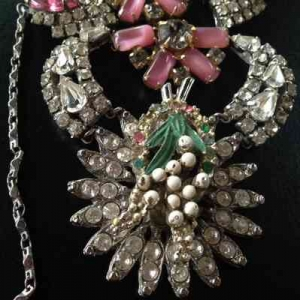 Unique by Galit- Pink Flower vintage Necklace-smallpic