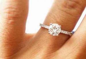 B&G Jewelers diamond ring-solitare