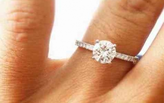 B&G Jewelers diamond ring-solitare