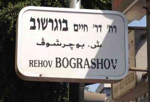 Bograshov- Urban life - street sign 1