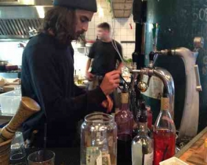 Miznon-man at bar pumps