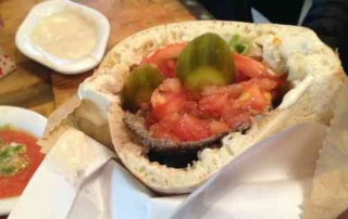Miznon-meat in a Pita