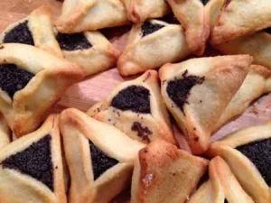 Purim 2016 in Tel Aviv-Haman Ears poppy cookies