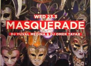 Purim 2016 in Tel Aviv- Masqueradeball