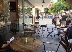 Vegan Restaurat in Tel Aviv _ Market -ouside seating