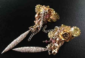 Galit-Rose Earrings for post