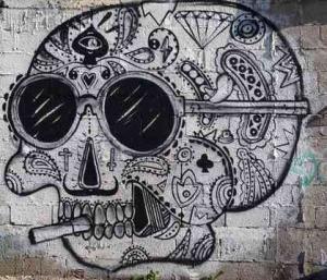 Tel Aviv-Grafitt & Streetart -scull