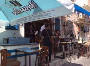 Greek Restaurant in Tel Aviv- outside