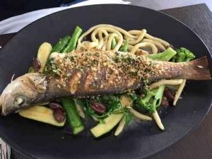 Pastel Lunch-Tel Aviv -Fish dish