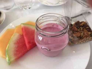 Tel Aviv Breakfast-Norman Hotel-Yoghurt & fruit