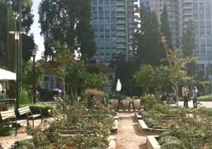 Sarona Complex in Tel Aviv.gardens